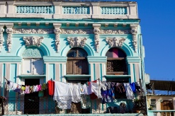 Laundry day in Havana, Cuba.