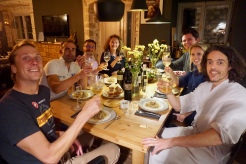 Hosting a dinner party in Stari Grad, Croatia