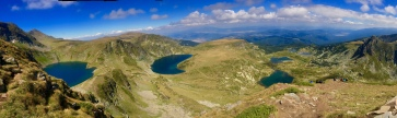 Spectacular views hiking Rila Mountain's Seven Lakes.
