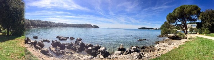 Golden Cape Park in Rovinj, Croatia is truly one of my favorite places to run on the planet. With this view, you can see why, right?