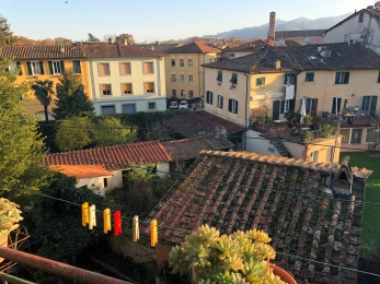 View from our terrace in Lucca, Italy.